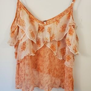 Free People layered ruffles tank size medium